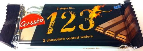 Mjölkchoklad wafers 1 2 3 - 49% rabatt