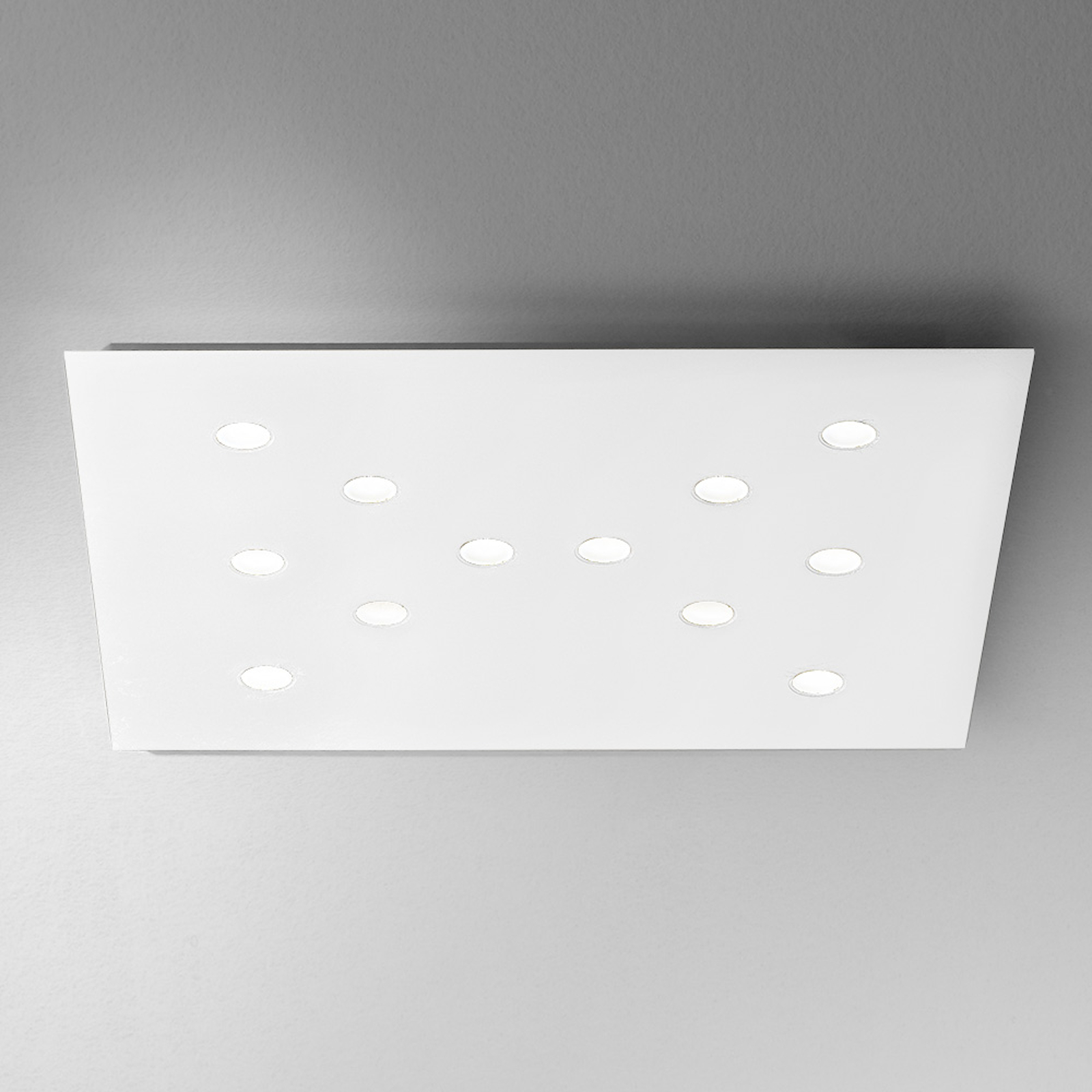 ICONE Slim - ohut LED-kattovalaisin, 12-lamppuinen