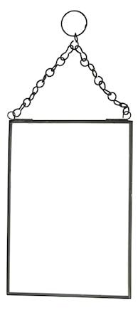 Hängande spegel 13x18 cm Svart