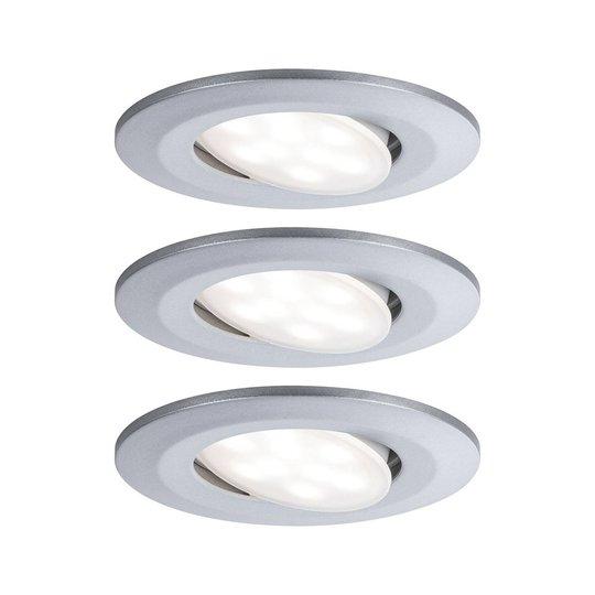 Paulmann LED-uppokohdevalo Calla 3 kpl kromi