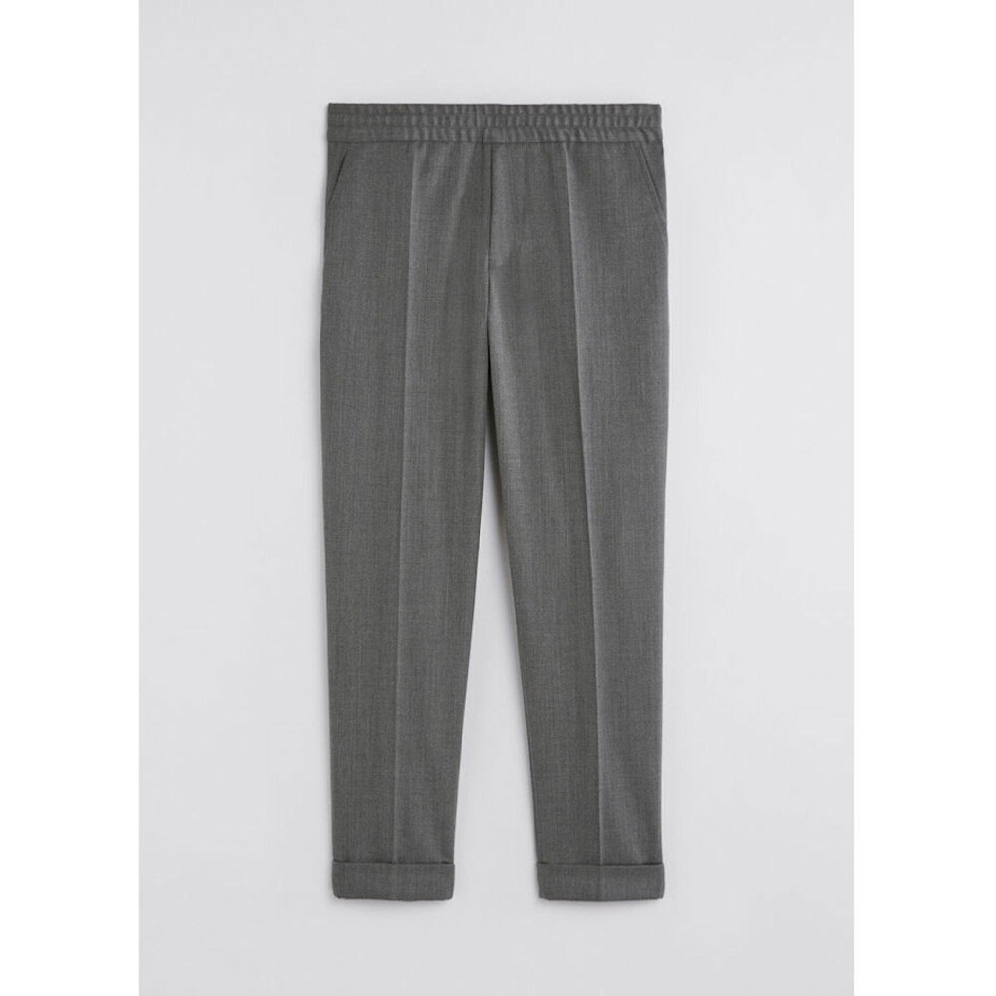 Terry Gabardine Cropped Pants