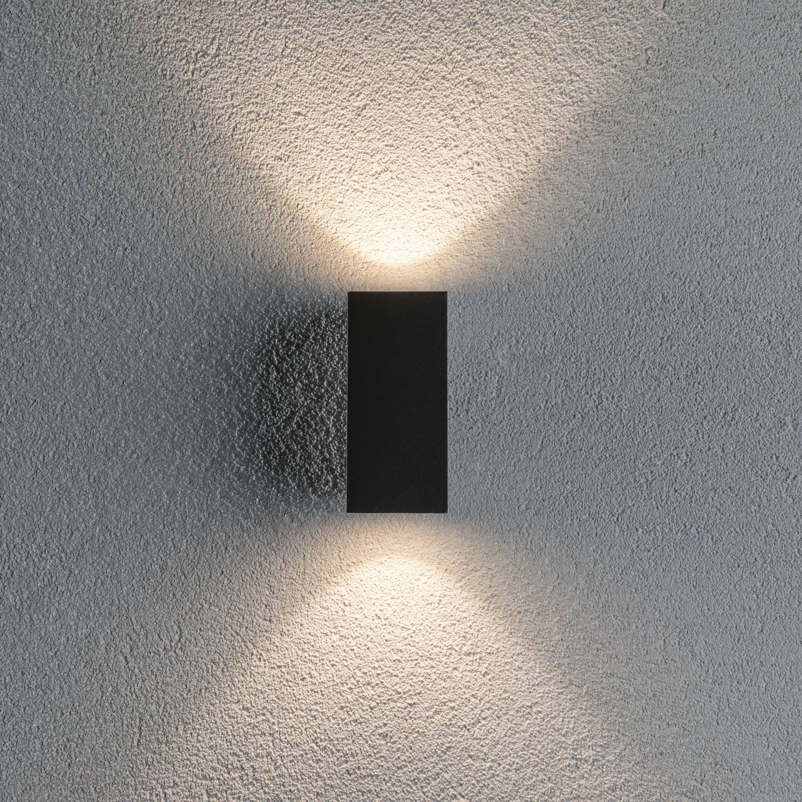 Paulmann Flame 2-lamppuinen 12,8cm antrasitti