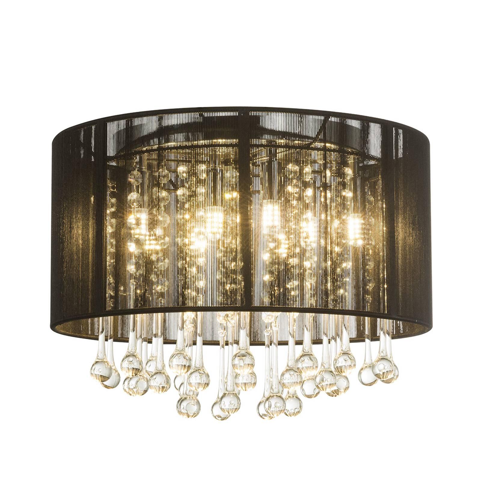 LED-kattovalaisin Sierra, silkkivarjostin, riipus