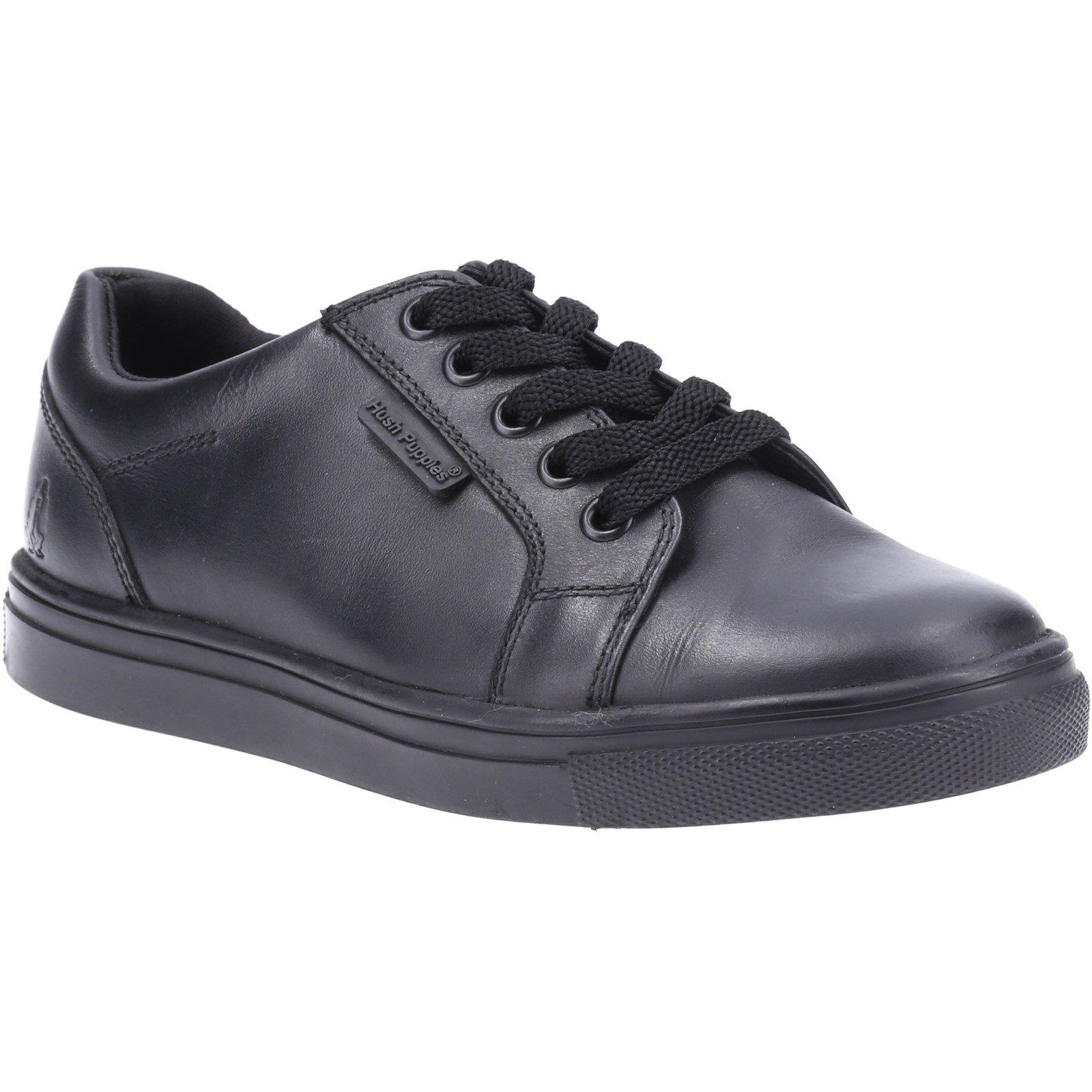 Hush Puppies Kid's Sam Junior School Shoe Black 32579 - Black 12