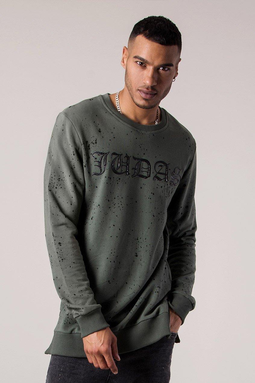 Mud Oil Dye Men's Sweatshirt - Thyme, Small