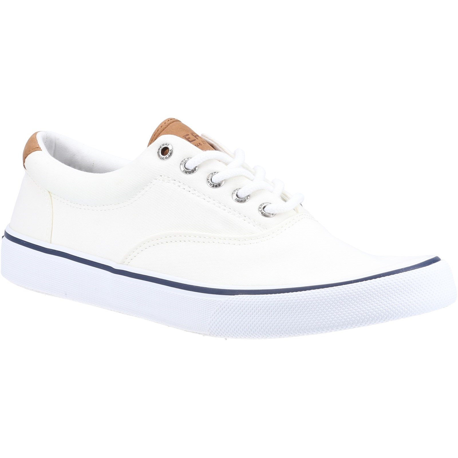 Sperry Men's Striper II CVO Canvas Trainers Various Colours 32397 - Salt Washed White 8