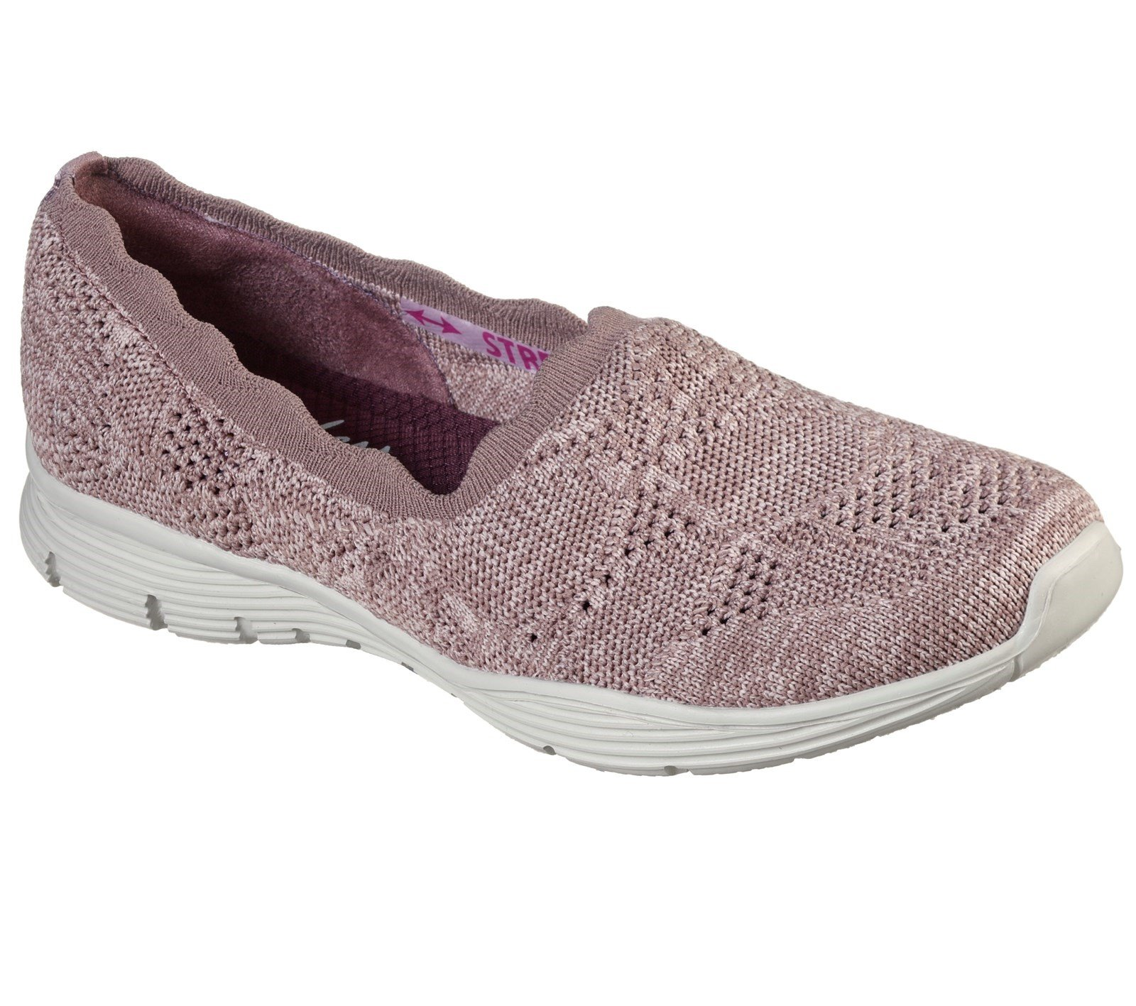 Skechers Women's Seager Bases Covered Slip On Loafer Various Colours 32127 - Mauve 7