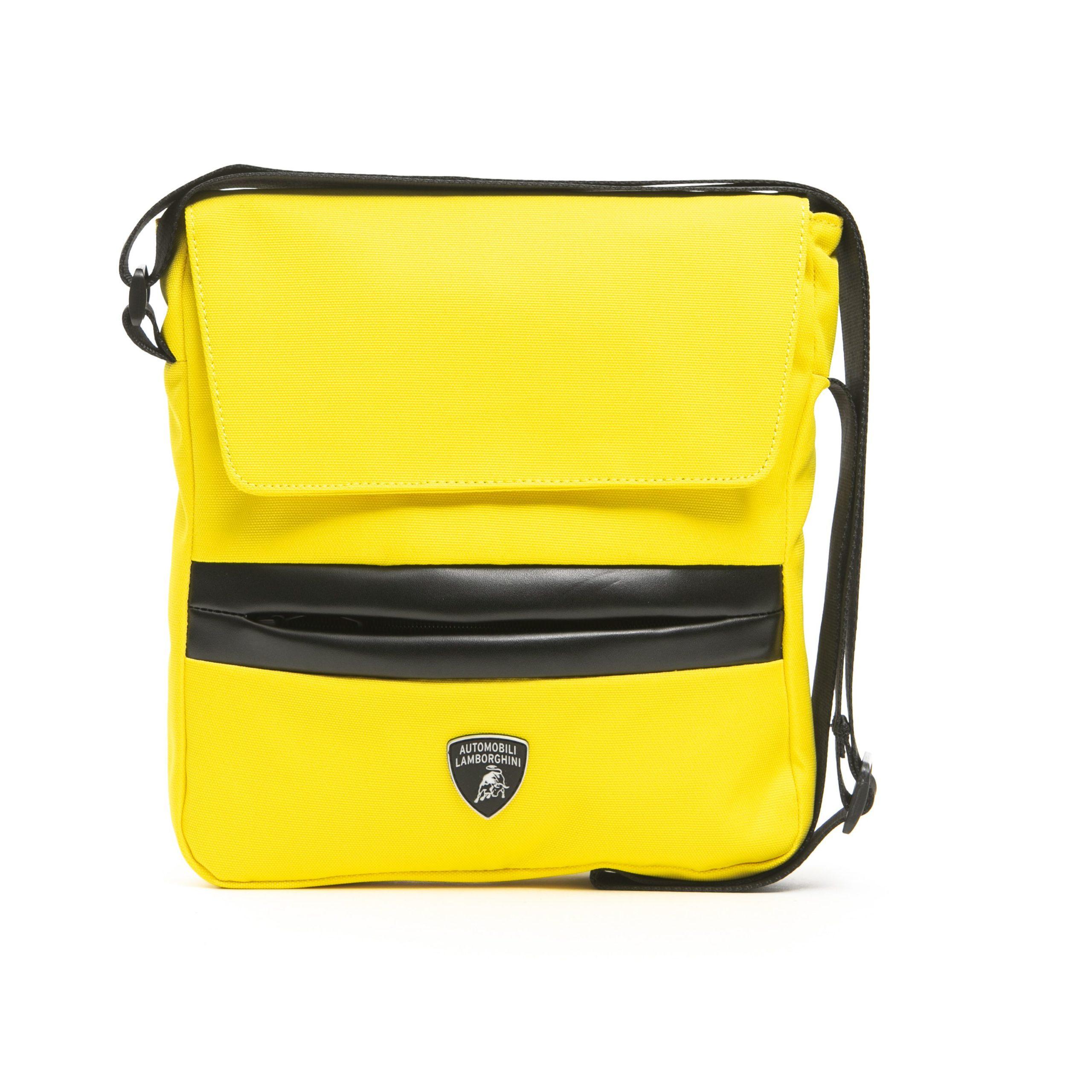 Lamborghini Men's Giallo Messenger Bag Yellow LA1265617