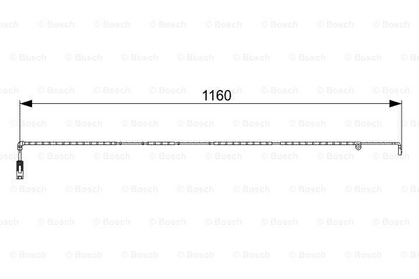Jarrupalan kulumisen ilmaisin BOSCH 1 987 473 055