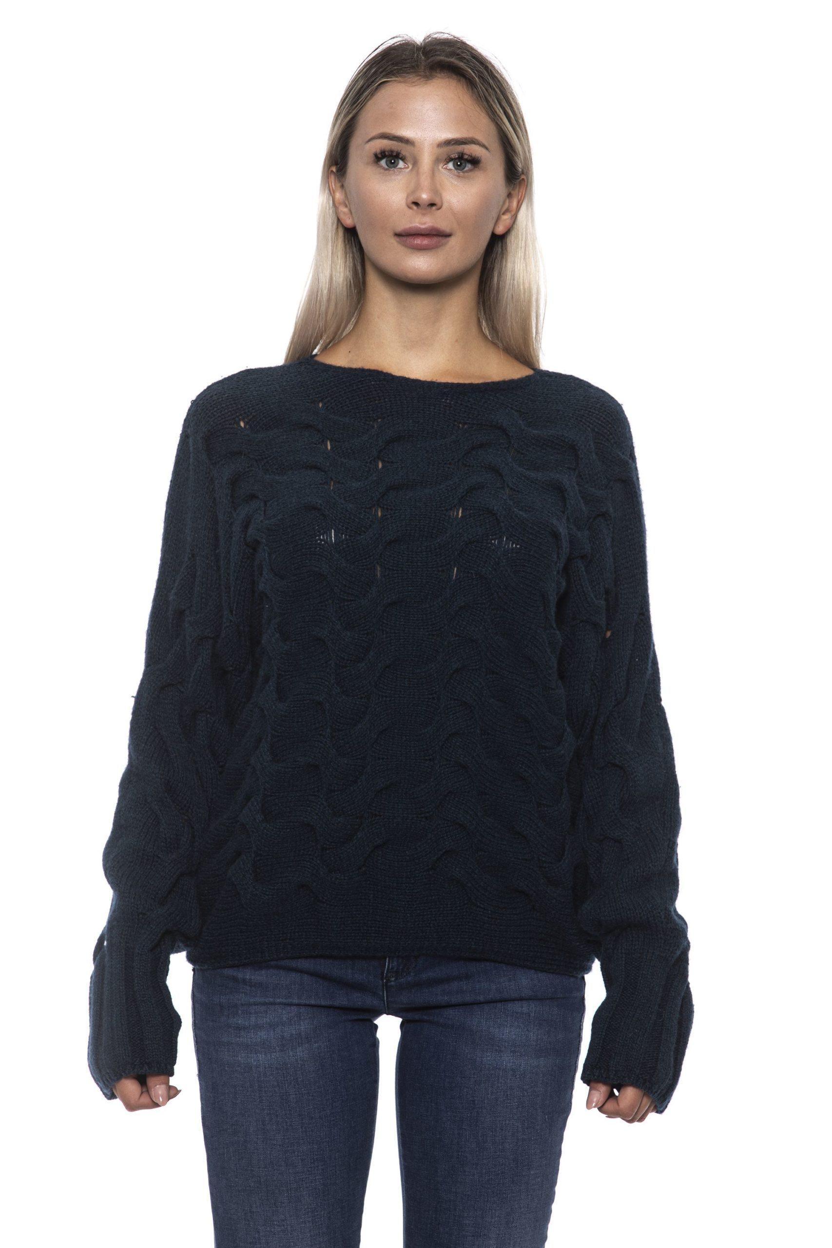 Alpha Studio Women's Bluspecial Sweater Blue AL1192602 - IT42 | S