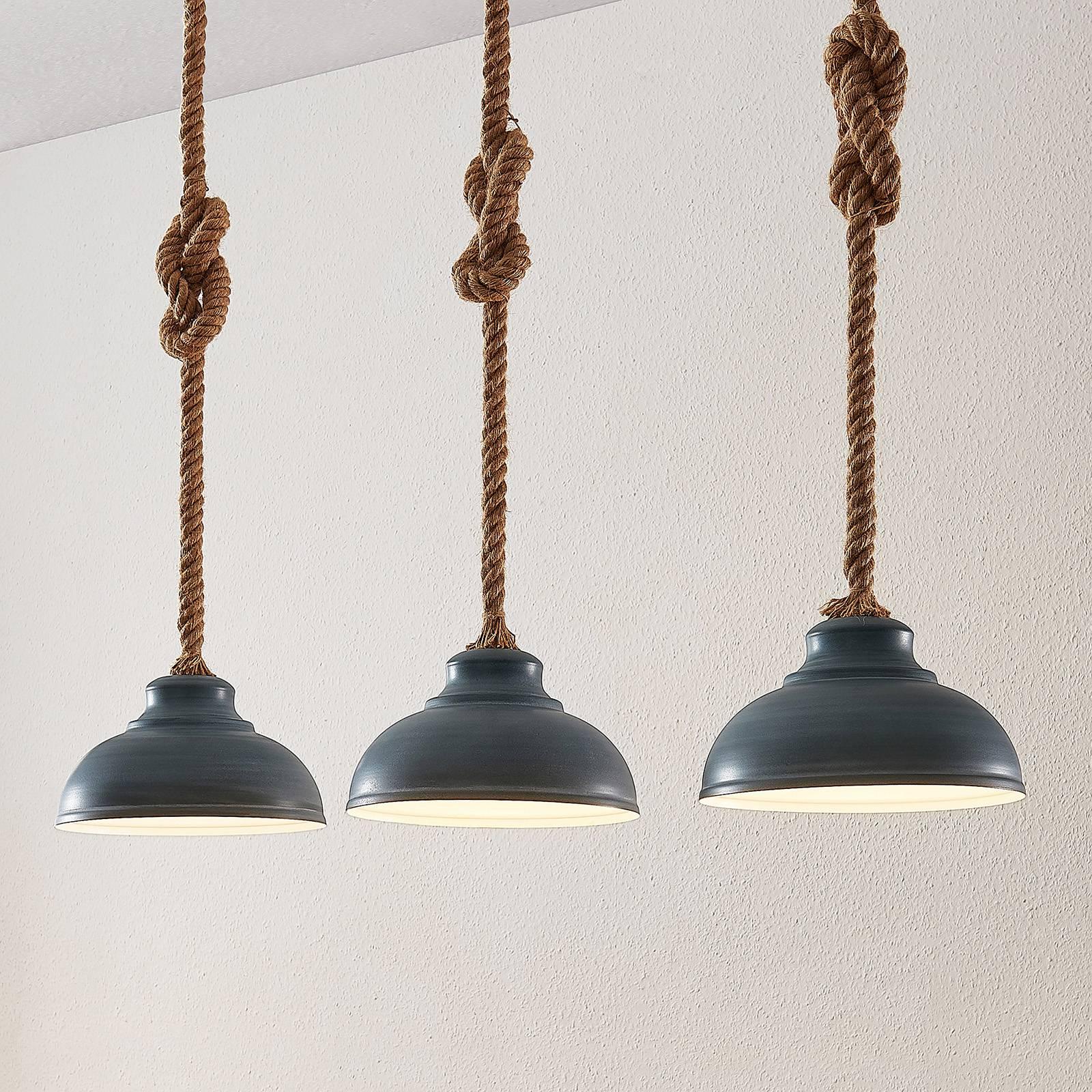 Lindby Chaby -riippuvalaisin, 3-lamppuinen