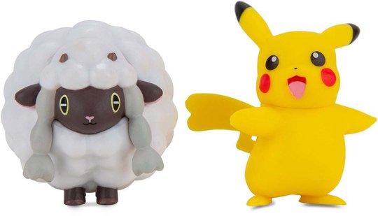 Pokémon Battle Figursett 2-Pack, Female Pikachu & Wooloo