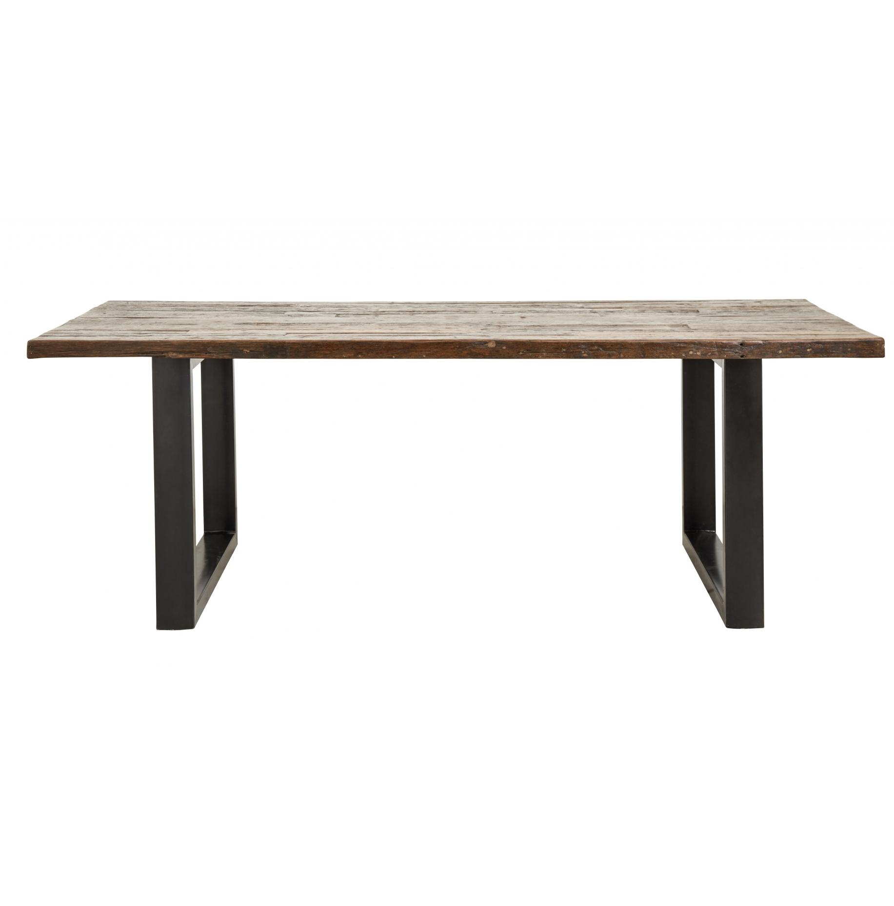Matbord Vintageträ/ järnben 220cm, Nordal