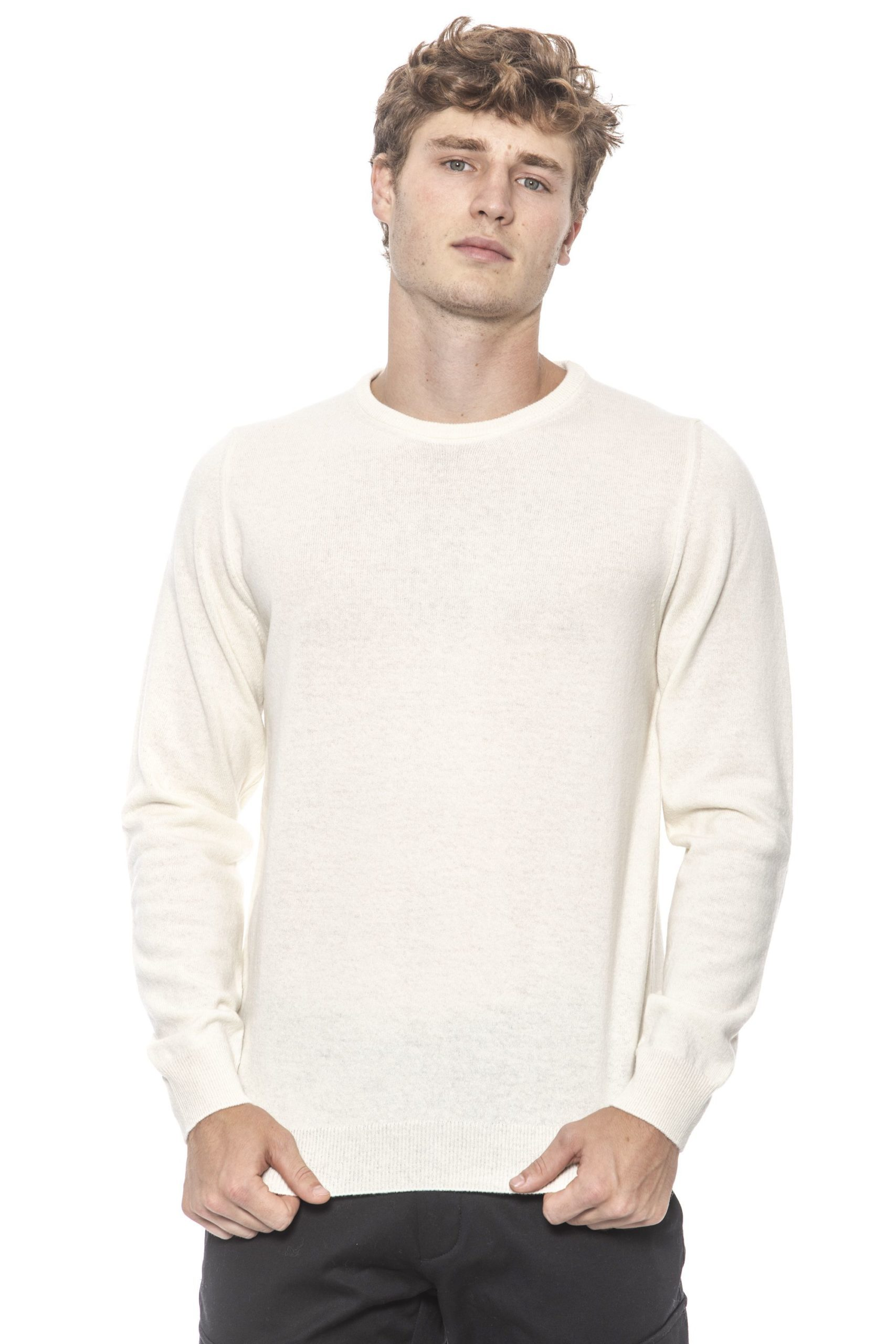 +39 MASQ Men's Bianco Sweater White 31272605 - S