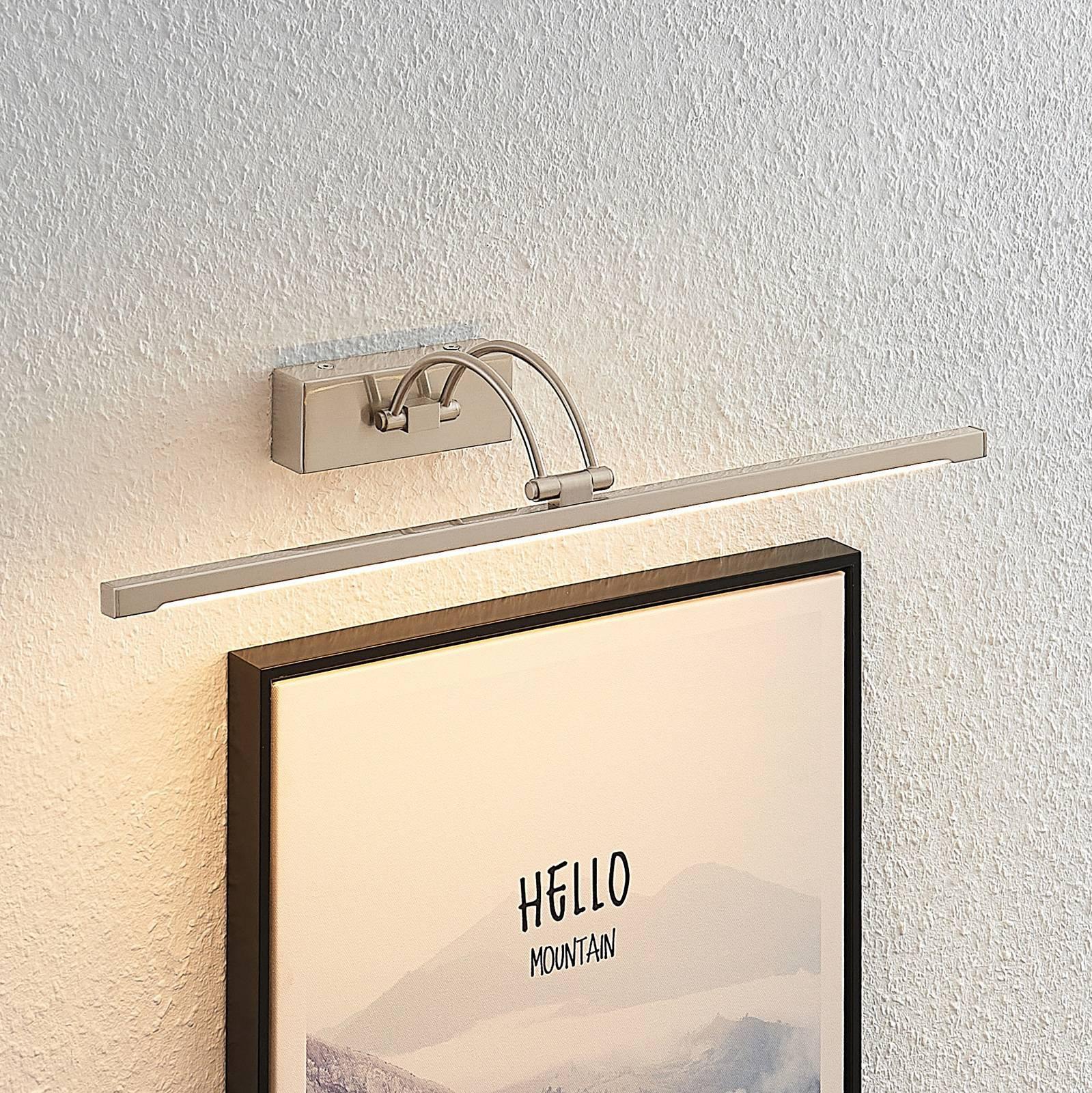 Lucande Felena LED-bildelampe, satinert nikkel