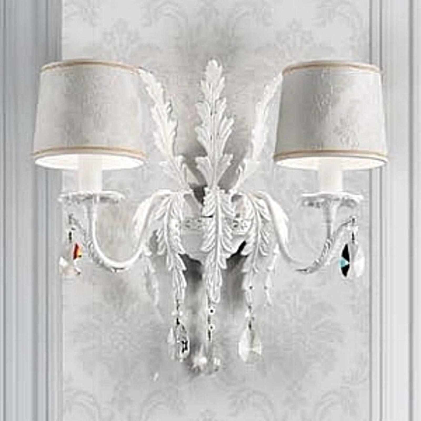 Valkoinen seinävalaisin Angelis, Asfour-kristallit