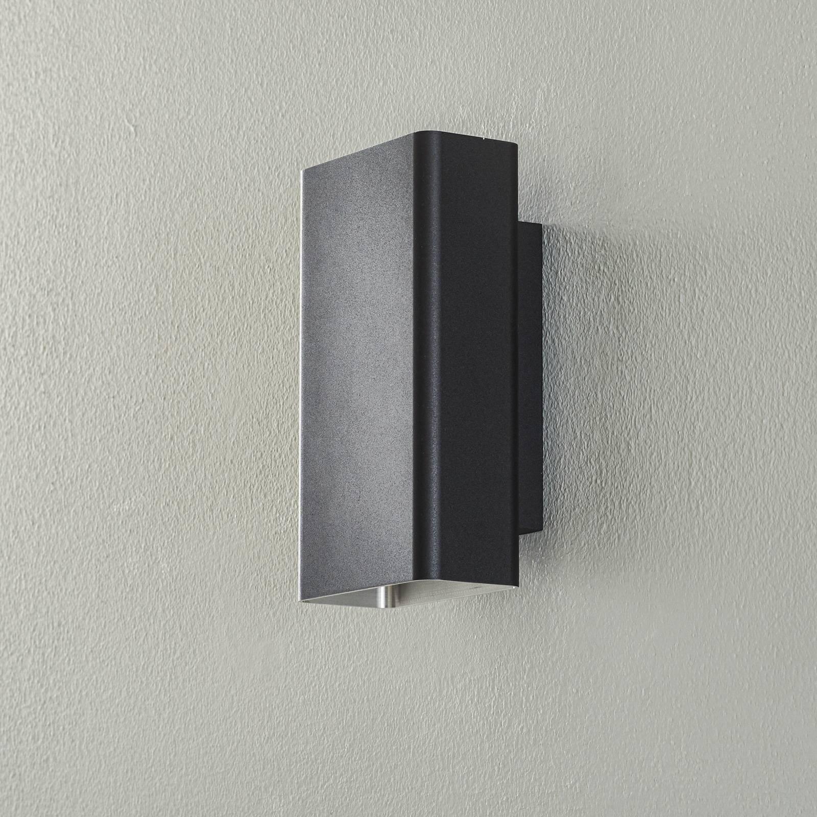 BEGA Studio Line seinävalo kapea musta/alu 22cm