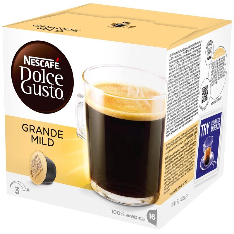 "Kahvikapselit ""Grande Mild"" 16x8g - 49% alennus"