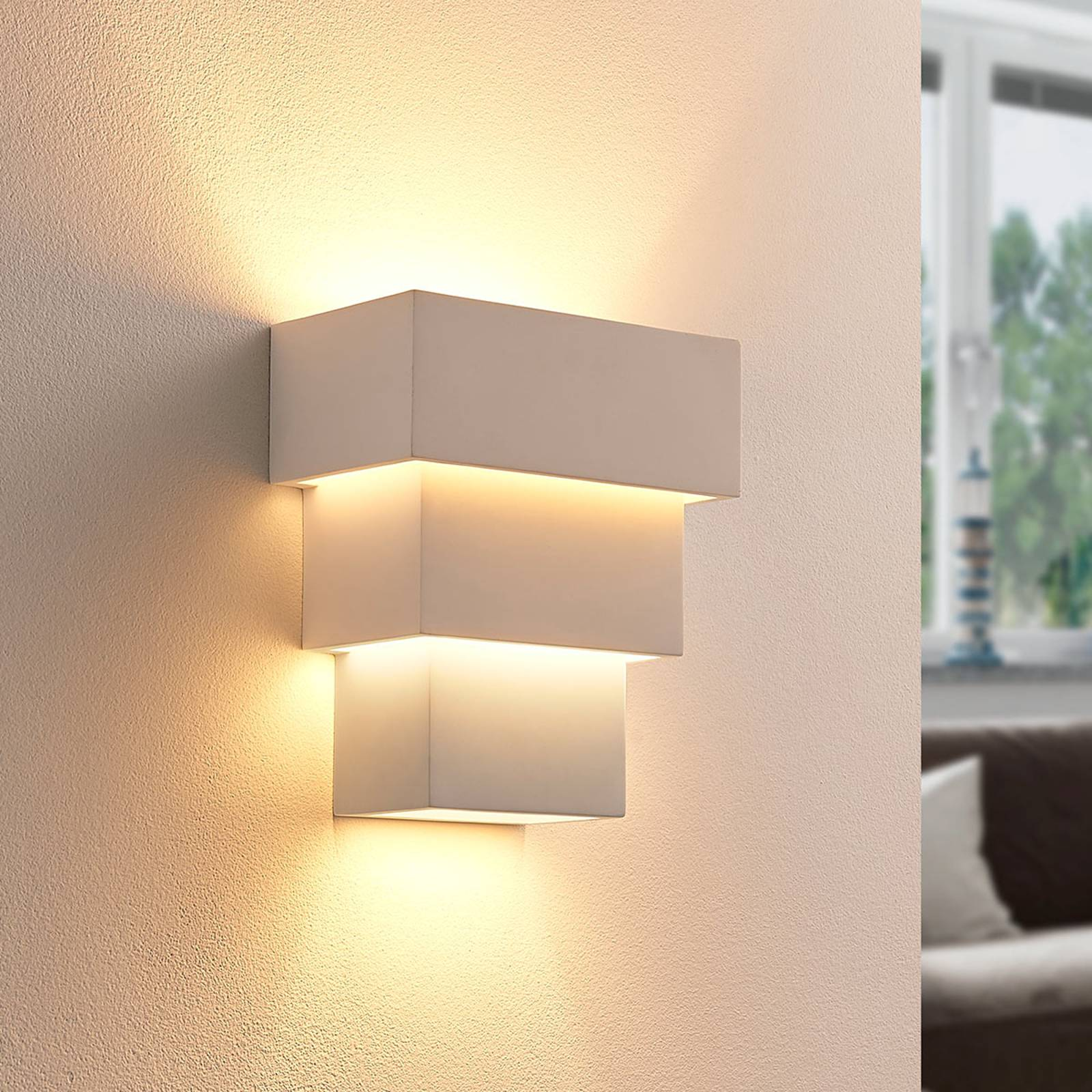 Antonella - tehokas LED-seinävalaisin, kipsiä