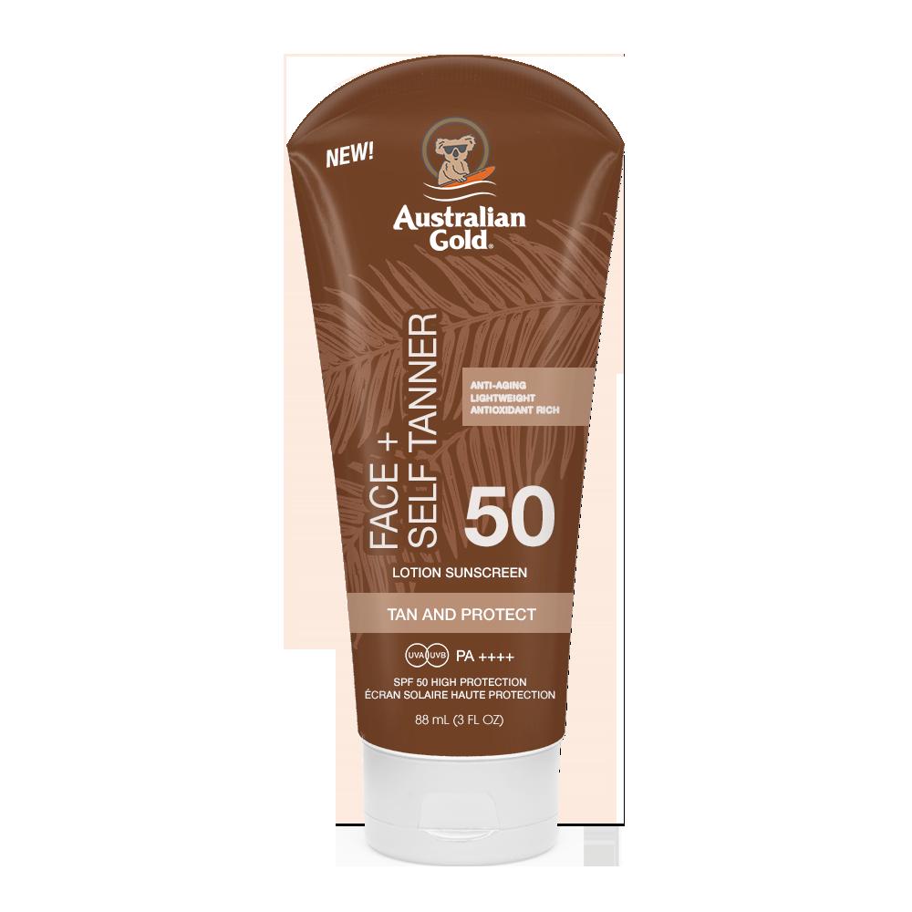 Australian Gold - Sunscreen + Self Tanner for Face SPF 50 88 ml