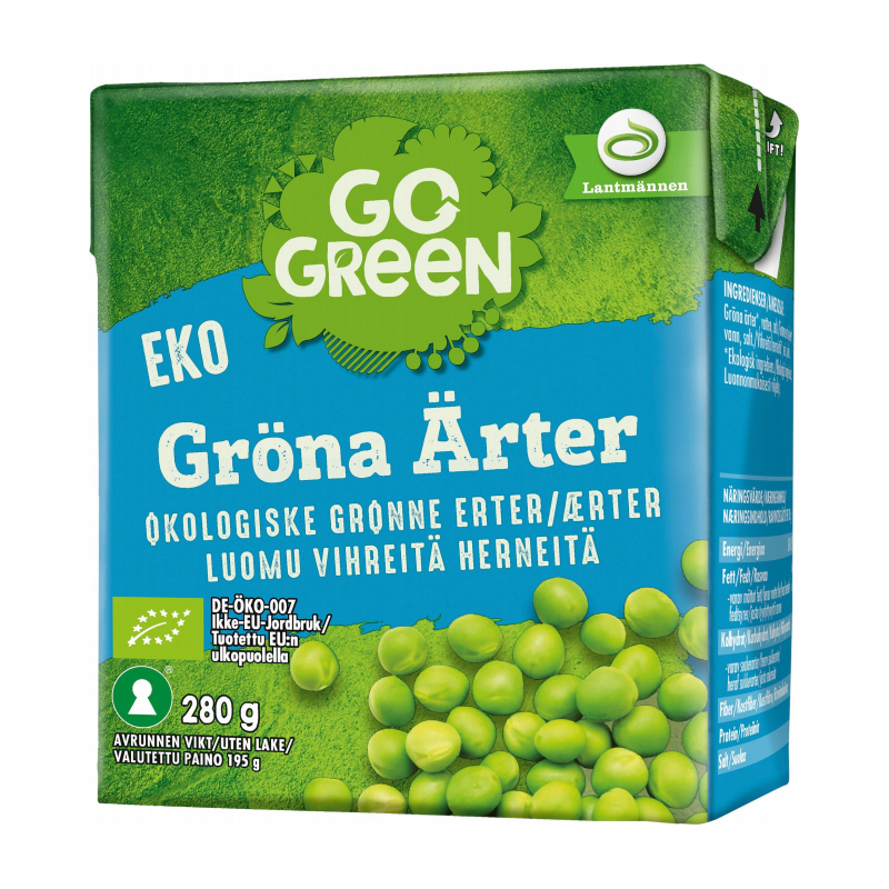 Eko Gröna Ärtor - 29% rabatt
