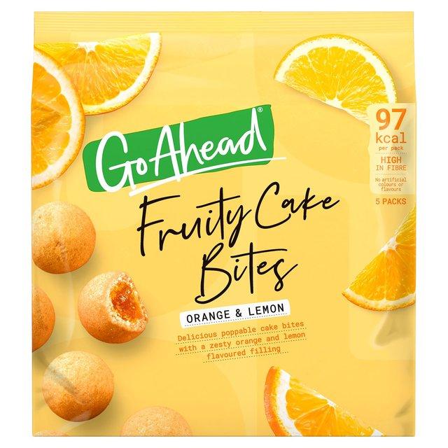 Go Ahead Fruity Cake Bites Orange & Lemon 136g