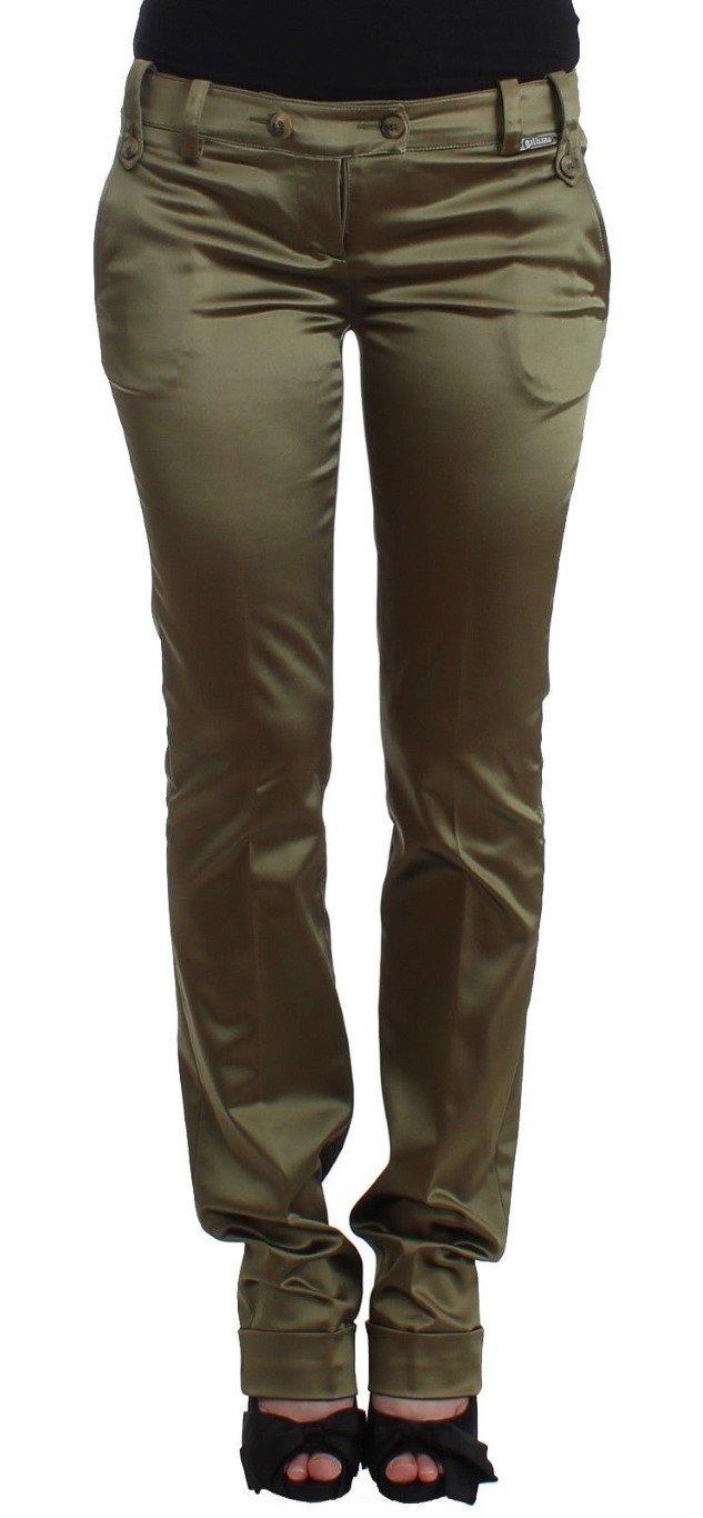 John Galliano Women's Slim Fit Trouser Green SIG11730 - IT40|S