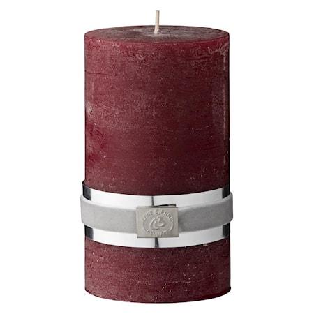 Blockljus Rustic 12,5 cm Röd