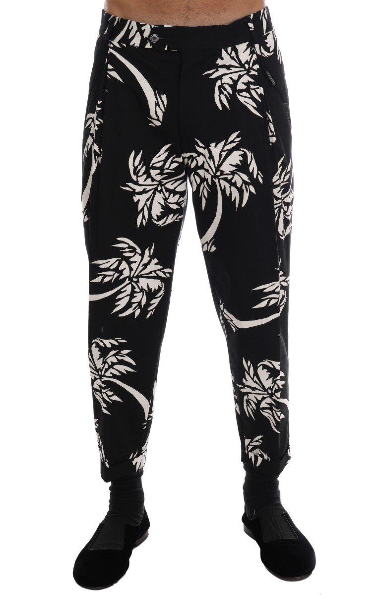 Dolce & Gabbana Men's Tree Cotton Stretch Trouser Black PAN60808 - IT44   XS