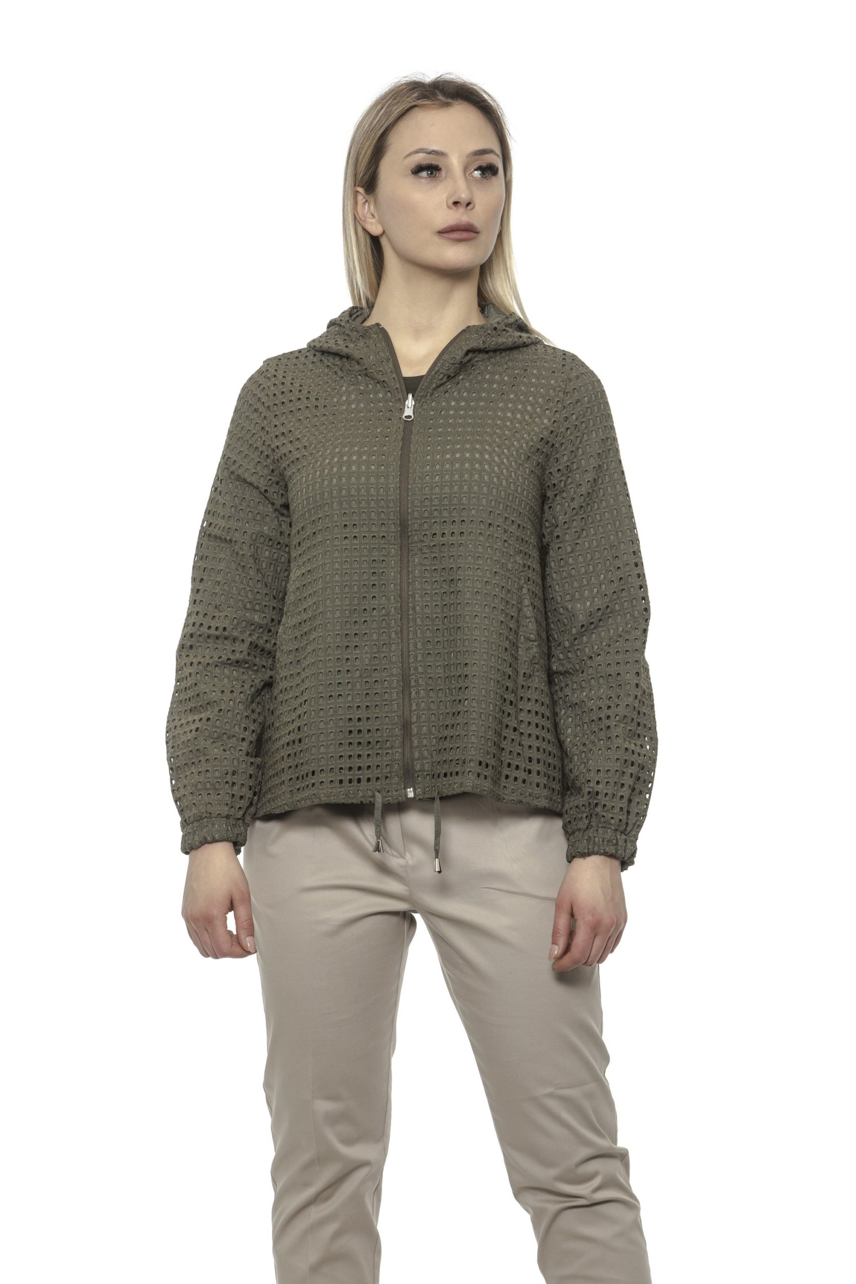 Alpha Studio Women's Oliva Coat Green AL1374826 - IT40   XS