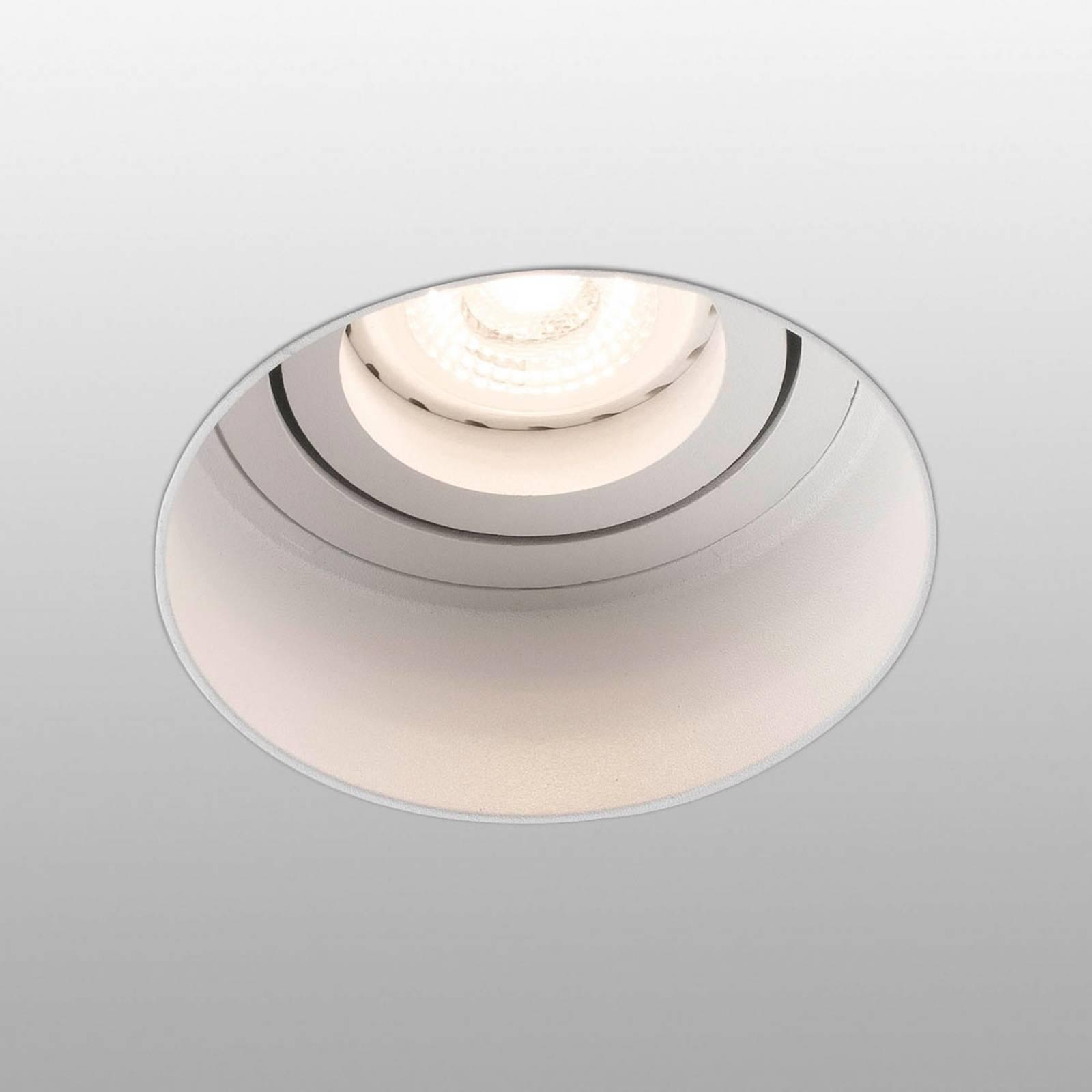 Uppokohdevalo Hyde 1-lamp. pyöreä valkoinen