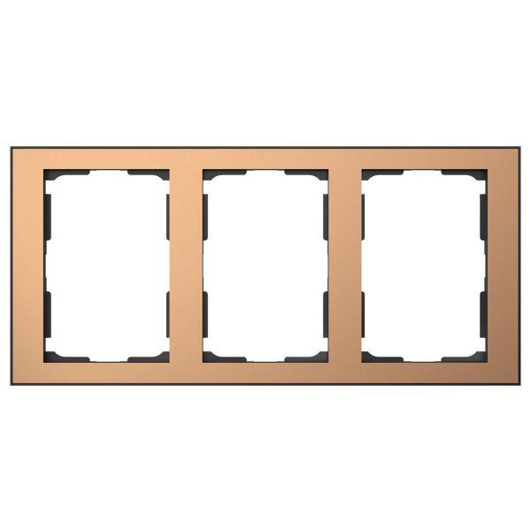 Elko EKO06459 Kombinasjonsramme kobber/svart 3 x 1½ rom