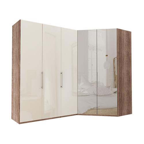 Garderobe Atlanta - Mørk rustikk eik 150 cm, 236 cm, Walk-in