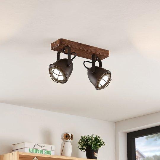 Lindby Adeon -LED-kattovalaisin kaksilamppuinen