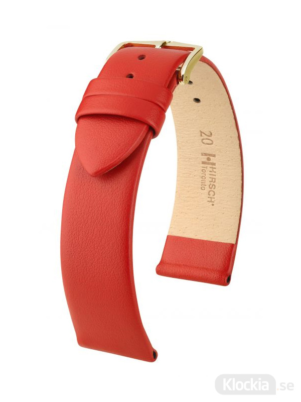 Klockarmband Hirsch Toronto 18mm Large Röd/Guld 03702020-1-18