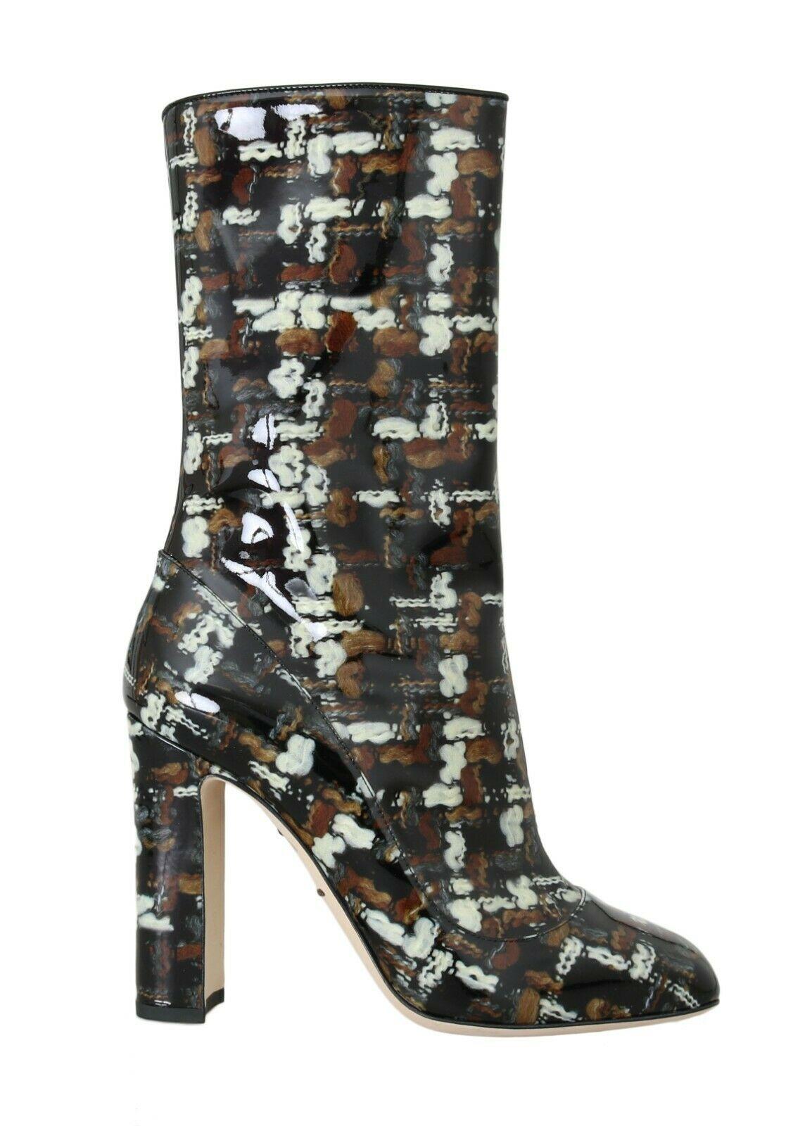 Dolce & Gabbana Women's Rain Calf Leather Boot Black LA4184 - EU37.5/US7