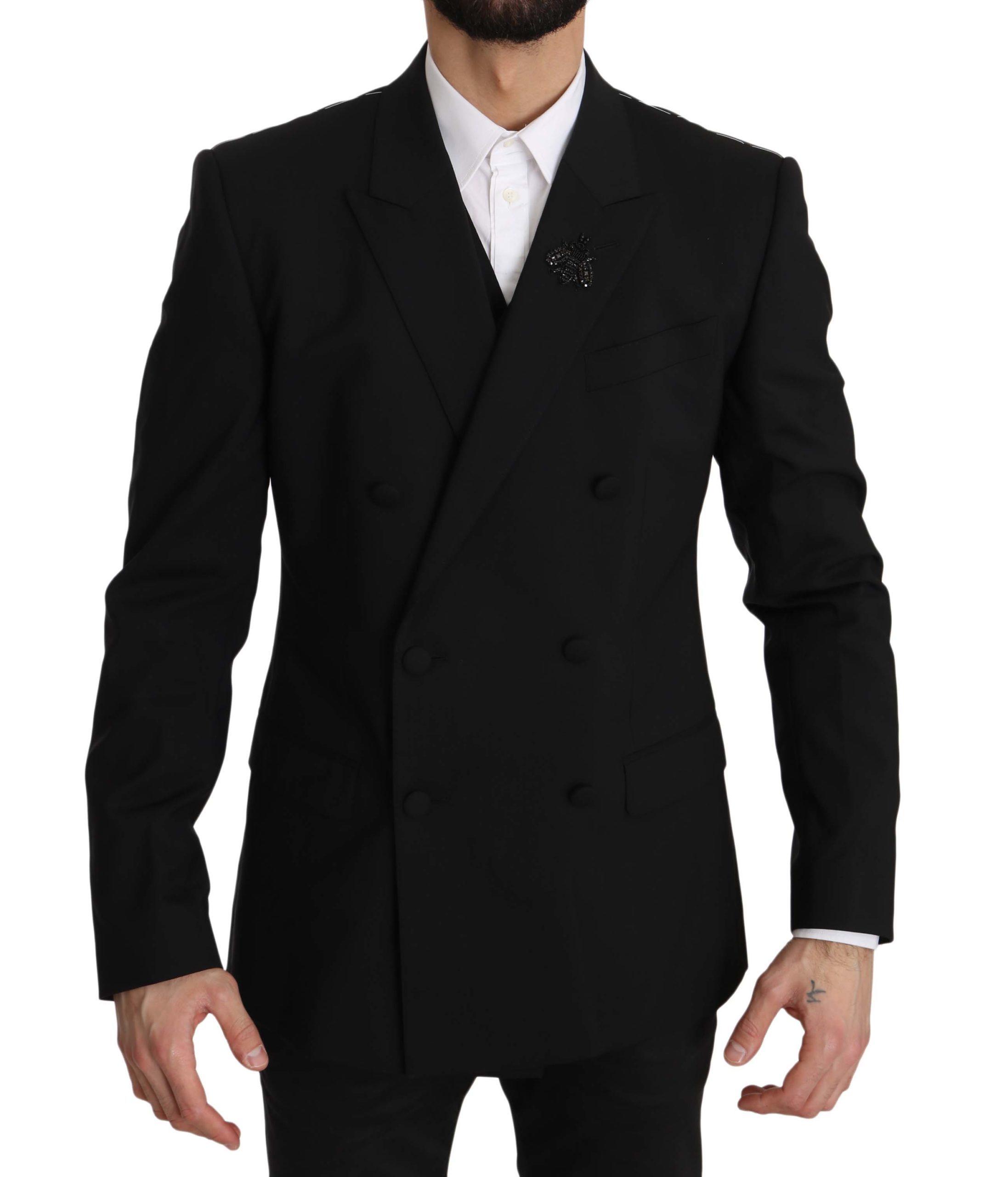 Dolce & Gabbana Men's Blazer Black JKT2383 - IT50   L