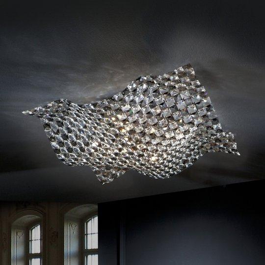 Kristallinen Saten-kattovalaisin, 56 cm