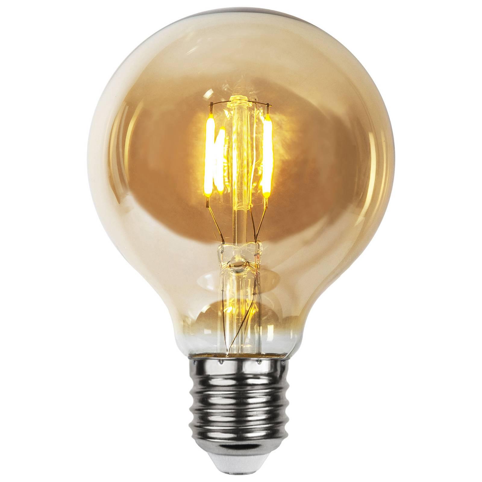 LED-lamppu E27 0,23W G80 filament 24V amber 4 kpl