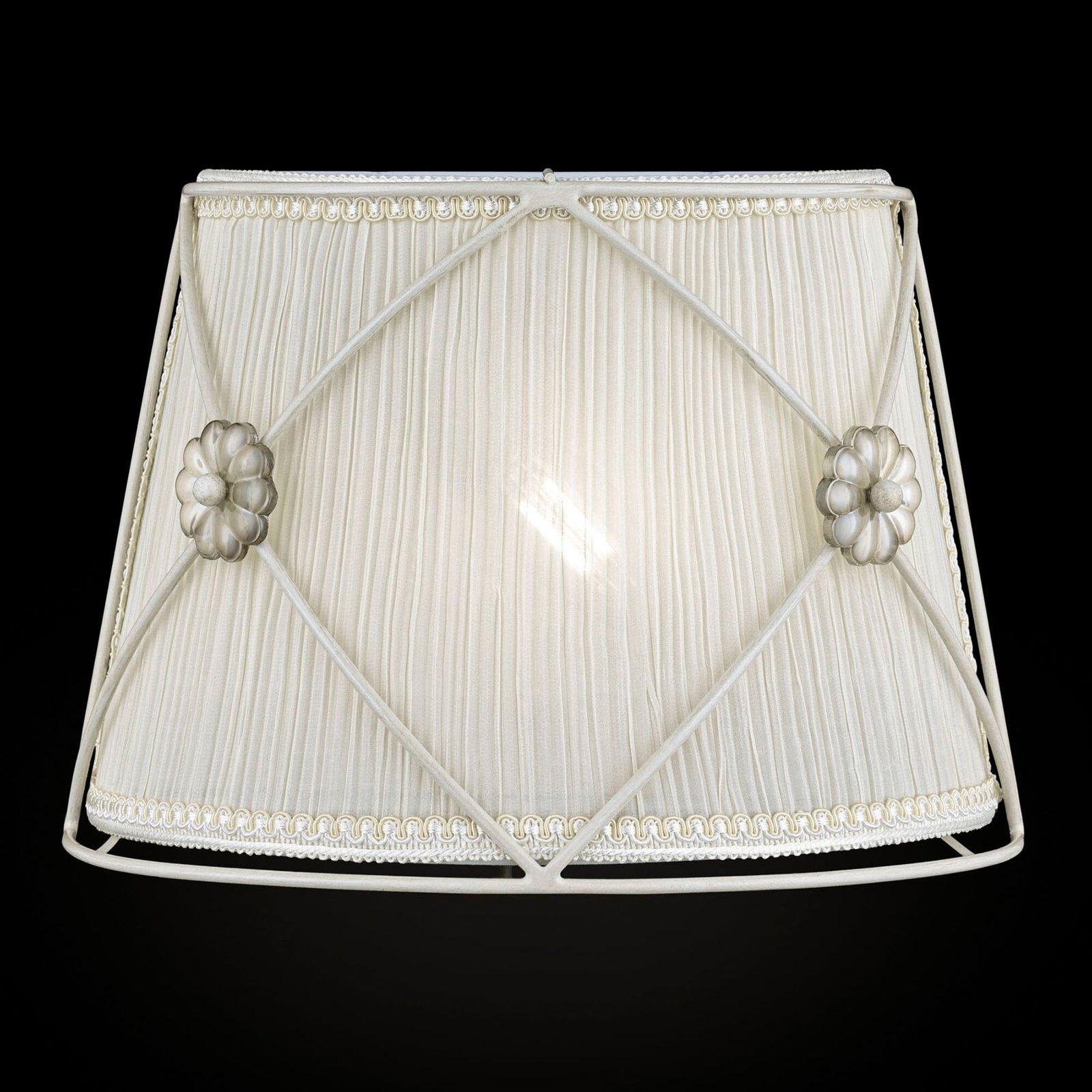 Vegglampen Lea med fine krystallblomster