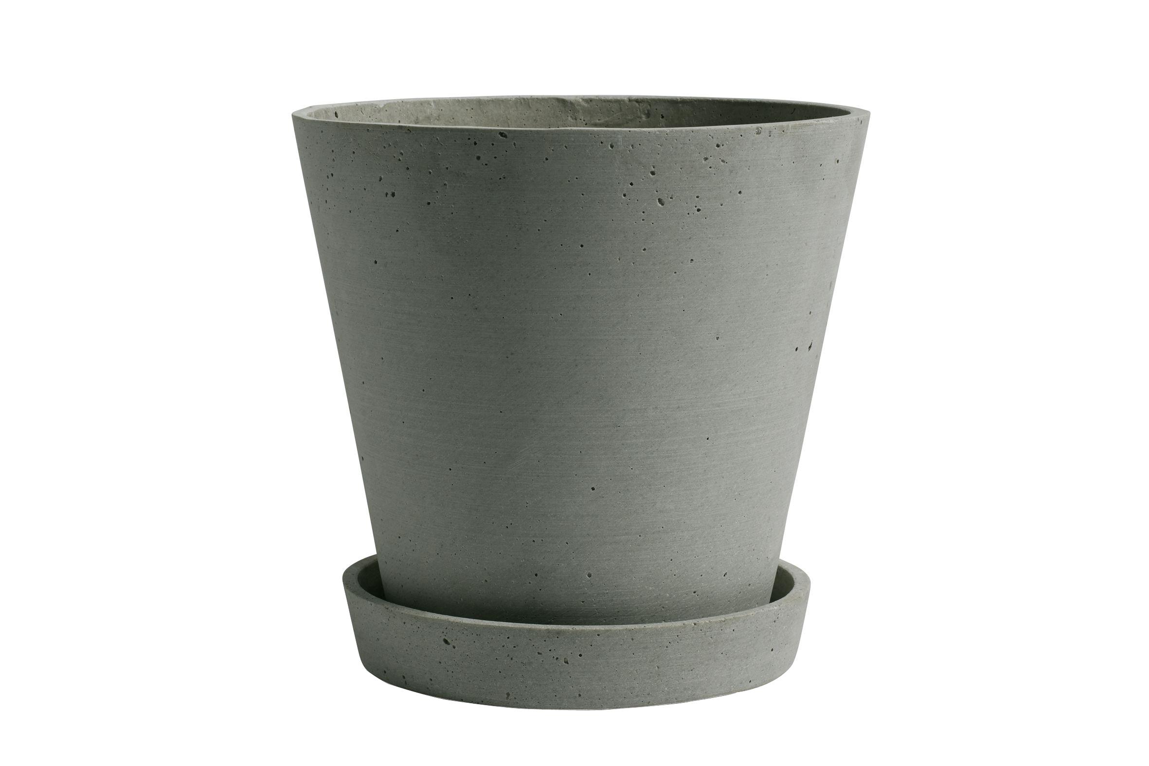 HAY - Flowerpot w/saucer XL - Green