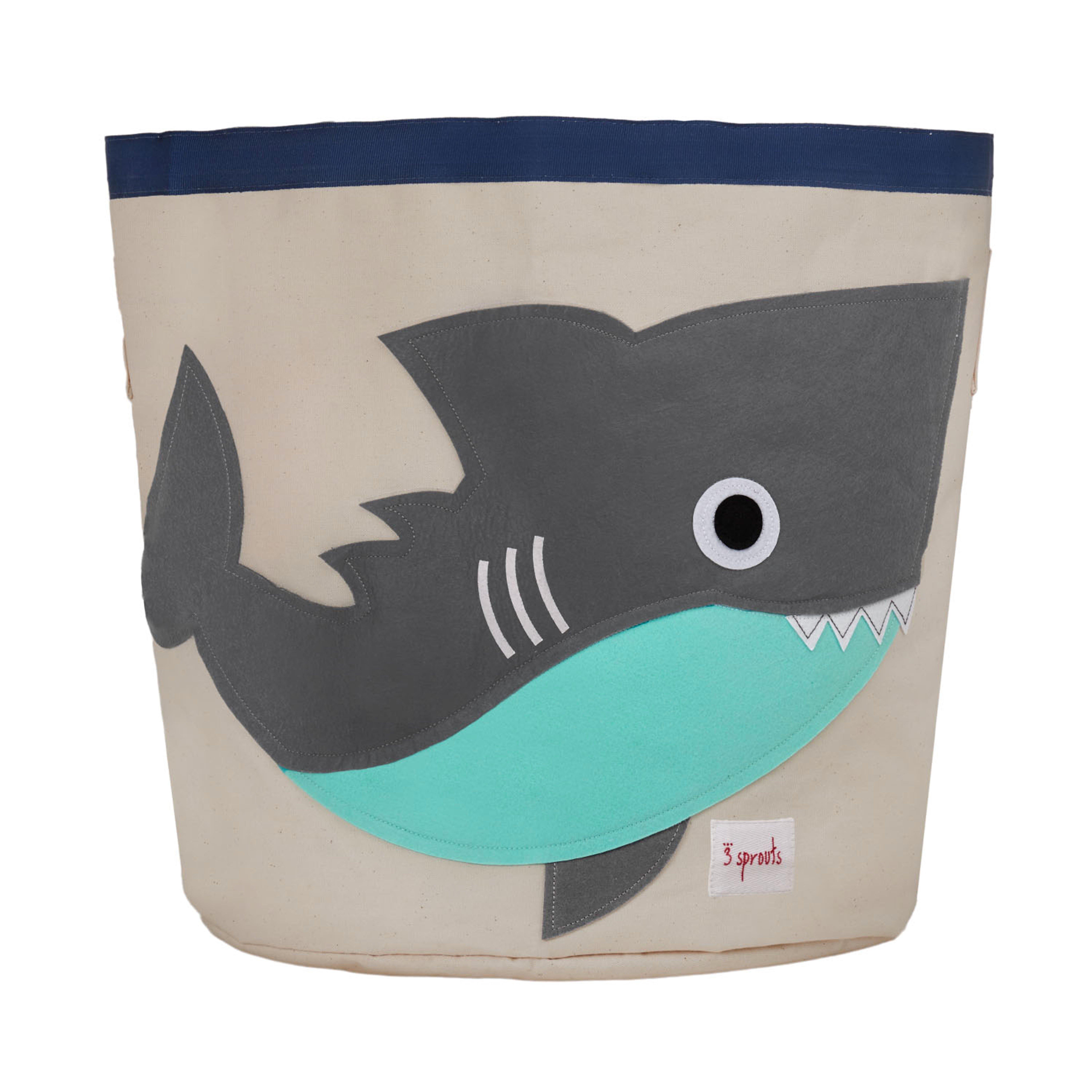 3 Sprouts - Storage Bin - Gray Shark