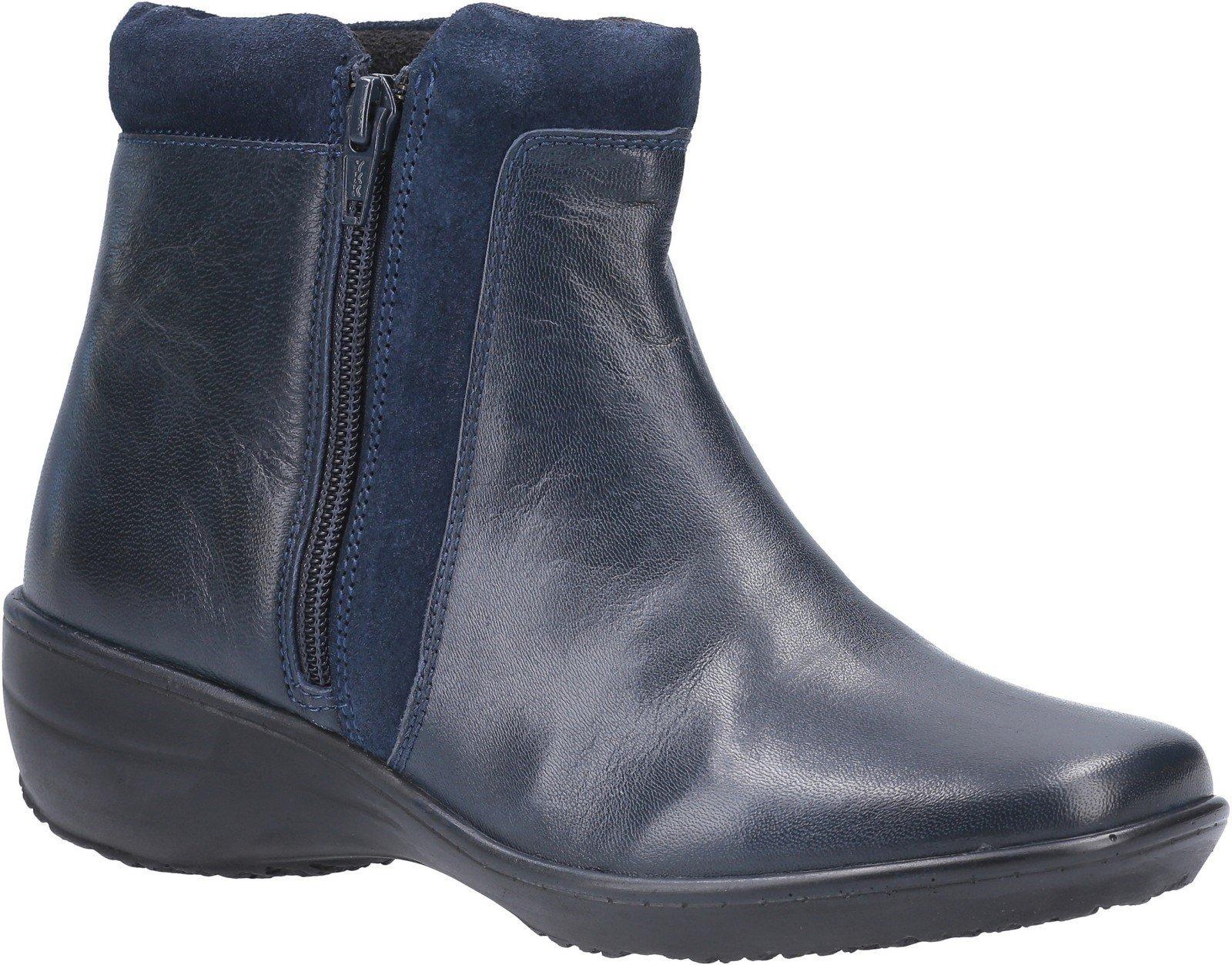 Fleet & Foster Women's Mona Zip Ankle Boot Black 29293-49577 - Navy 6