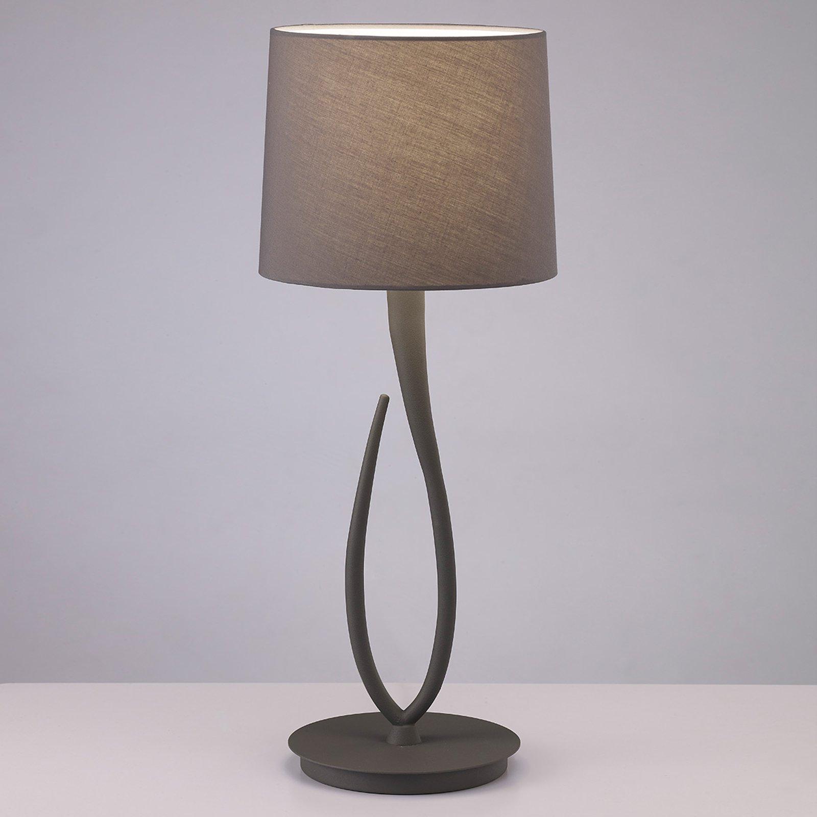 Lua - bordlampe med stoffskjerm, 25 cm
