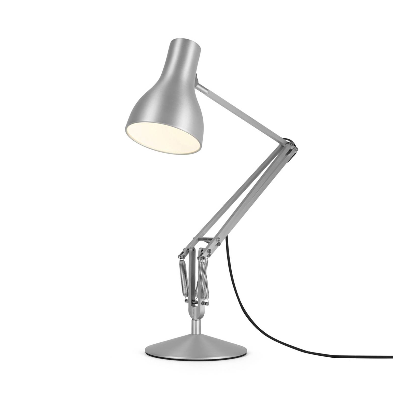 Anglepoise Type 75 -pöytälamppu hopea