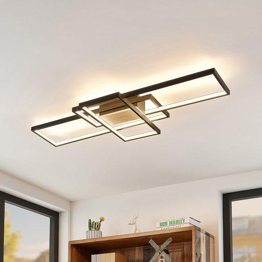 Lindby Emiljan -LED-kattovalaisin, mattamusta