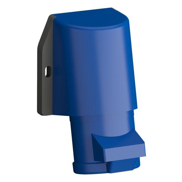 ABB 2CMA102291R1000 Vegguttak hurtigtilkoblet, vibrasjonsbestandig Blå, 16 A, 3-polet, IP44