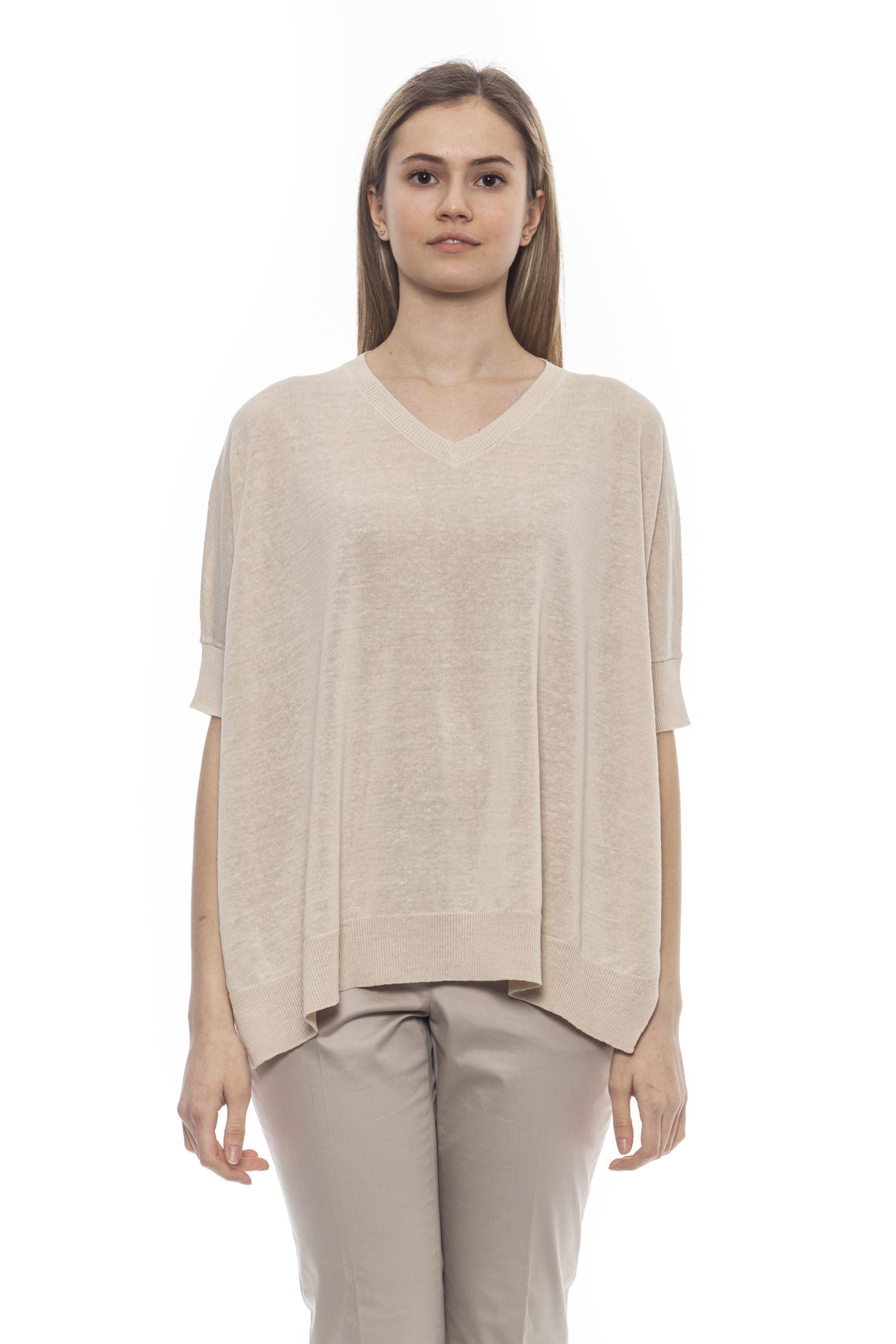 Peserico Women's Sweater Beige PE1382046 - IT42 | S