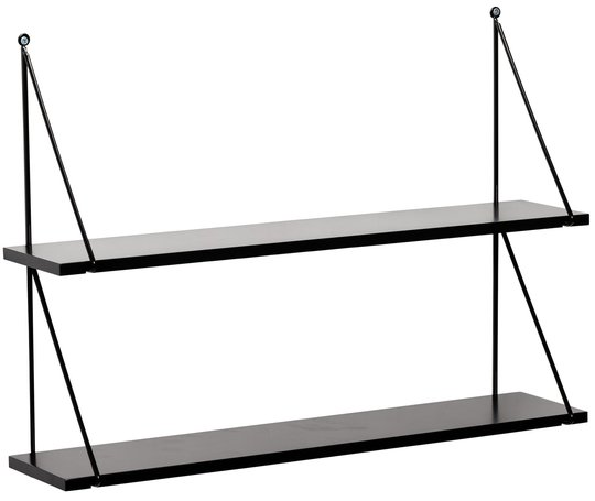 Alice & Fox Vegghylle Triangle 2-Plan, Svart