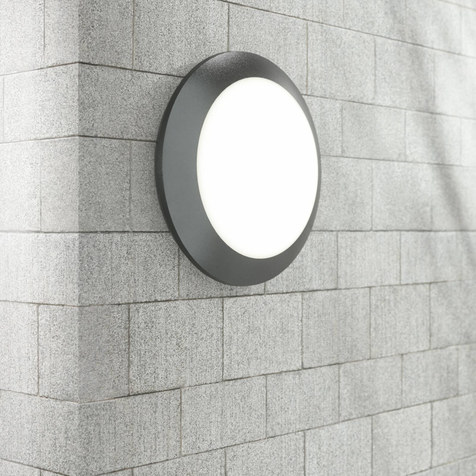 Sensor-vegglampe Umberta 2 x E27 i svart